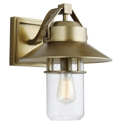 Generation Lighting Boynton 1 light Painted Distressed Brass Outdoor Fixture OL13902PDB