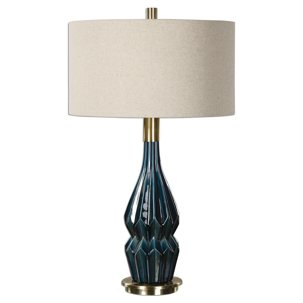 Prussian Blue Ceramic Lamp (Lamp Only), Deep Blue