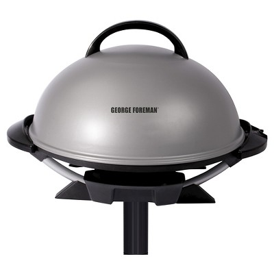 George Foreman 15 Serving Indoor/Outdoor Electric Grill - Silver GFO240S