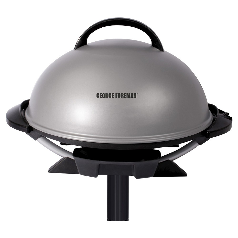 Image of George Foreman 15 Serving Indoor/Outdoor Electric Grill - Silver GFO240S