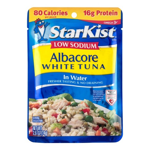 StarKist Low Sodium Albacore White Tuna in Water Pouch - 2.6oz - image 1 of 3