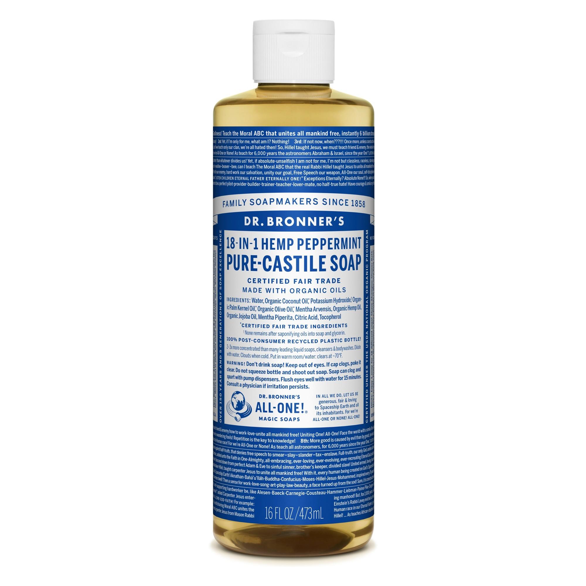 Dr. Bronner's Pure Castile Soap - Peppermint - 16 oz