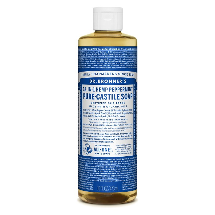 Dr. Bronner's Pure Castile Soap - Peppermint - 16 oz - image 1 of 3