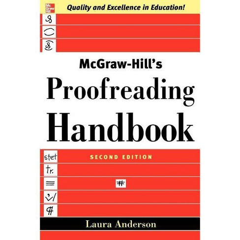 McGraw-Hill's Proofreading Handbook - 2 Edition by  Laura Killen Anderson (Paperback) - image 1 of 1