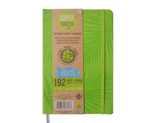 Onyx & Green Journal Green : Pu, Elastic Closure, Stone Paper (Hardcover) - image 1 of 1