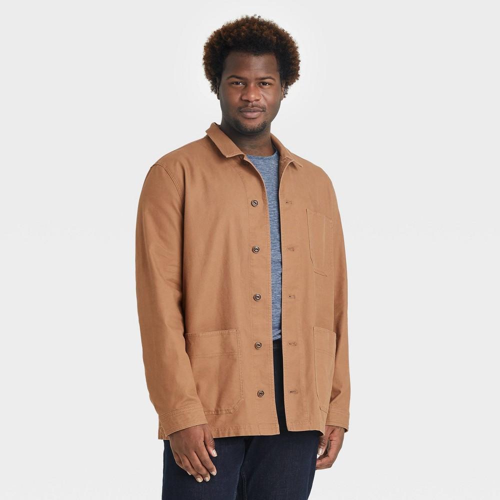 Men 39 S Big 38 Tall Standard Fit Stretch Canvas Chore Shirt Jacket Goodfellow 38 Co 8482 Brown 2xbt