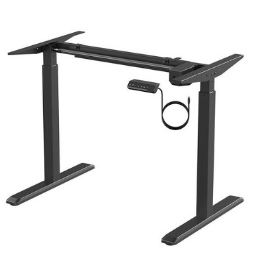 Monoprice Height Adjustable Sit-Stand Riser Table Desk Frame - Black With Electric Single Motor, Compatible With Desktops From 39in-63in Wide