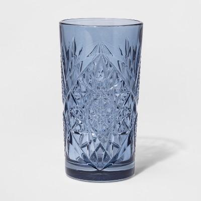 Glass Hobstar Drinkware Tumbler 16oz Light Blue - Threshold™