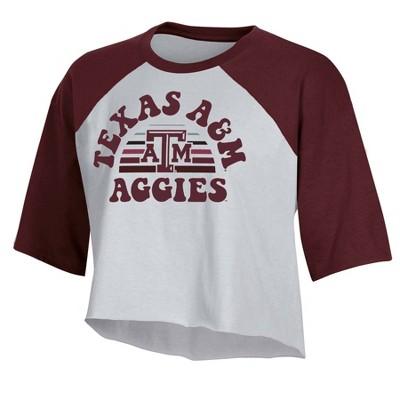 NCAA Texas A&M Aggies Women's Short Sleeve Cropped T-Shirt