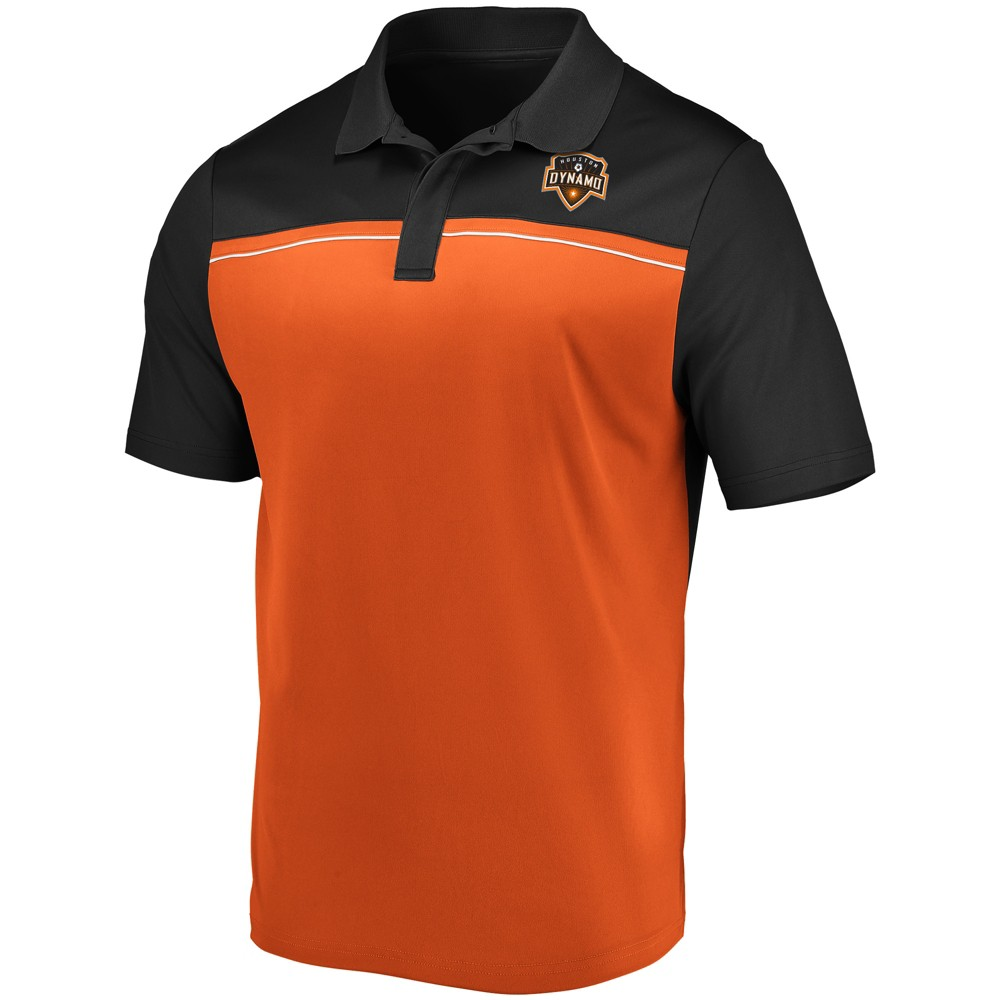Mls Men's TC Polo Shirt Houston Dynamo - L, Multicolored