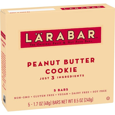 Larabar Fruit And Nut Bar Peanut Butter Cookie - 5ct - image 1 of 3