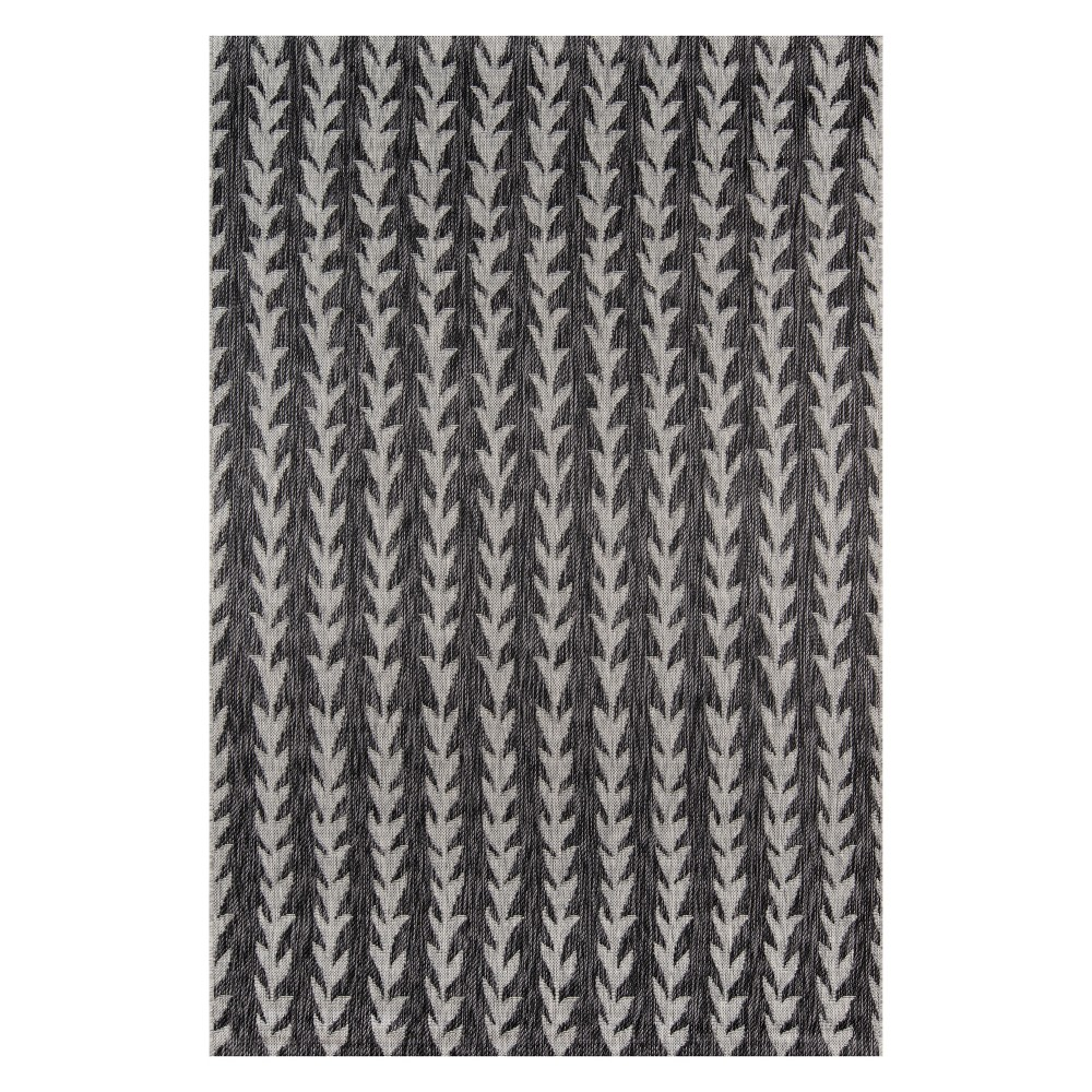 3'3X5' Stripe Loomed Accent Rug Charcoal (Grey) - Novogratz By Momeni