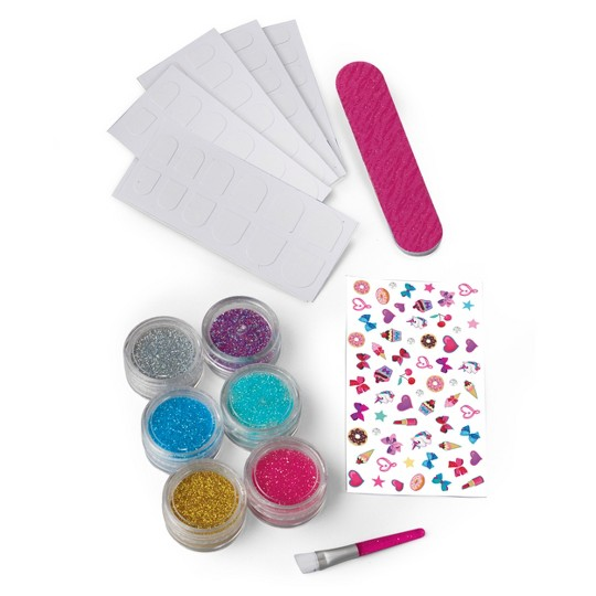 JoJo Siwa Glitter Nails - Glitter Manicure Kit with Custom Decals image number null