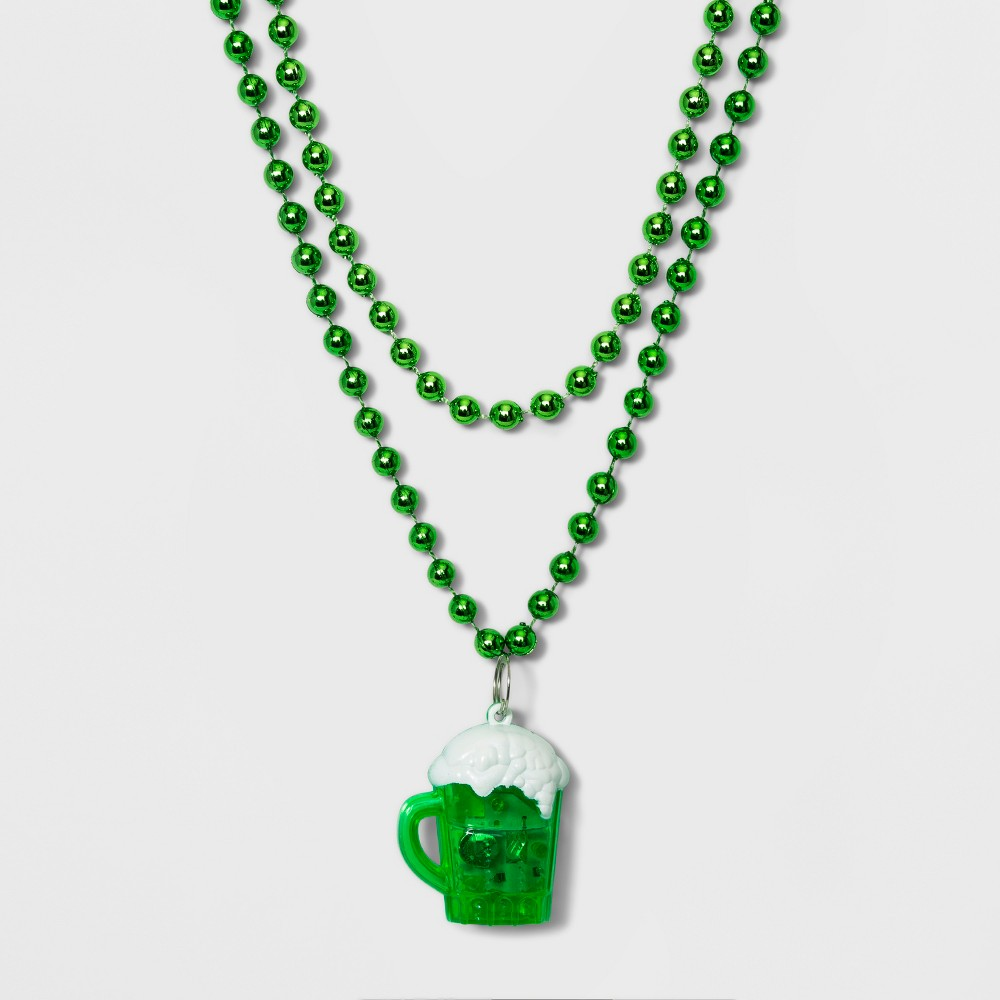Light Up Beer Necklace - Green