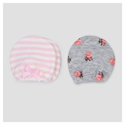 Baby Girls' 2pk Mittens - Just One You™ Made by Carter's® Pink/Gray NB