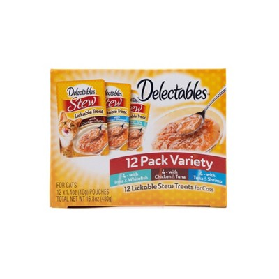 Delectables Stew Lickable Cat Treats - 1.4oz/12ct Variety Pack