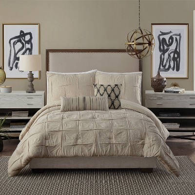 Full/Queen 3pc Natural Instincts Double Cloth Comforter Set Linen - Ayesha Curry