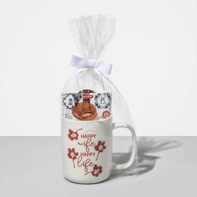14oz Stoneware Happy Wife, Happy Life Portable Mug - Opalhouse™