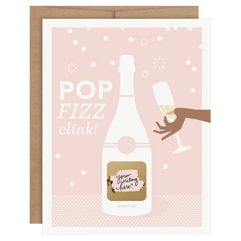 Wedding Be My Bridesmaid Scratch-off Cards - Pop Fizz Clink - 6 ct - Inklings Paperie ® - image 1 of 4