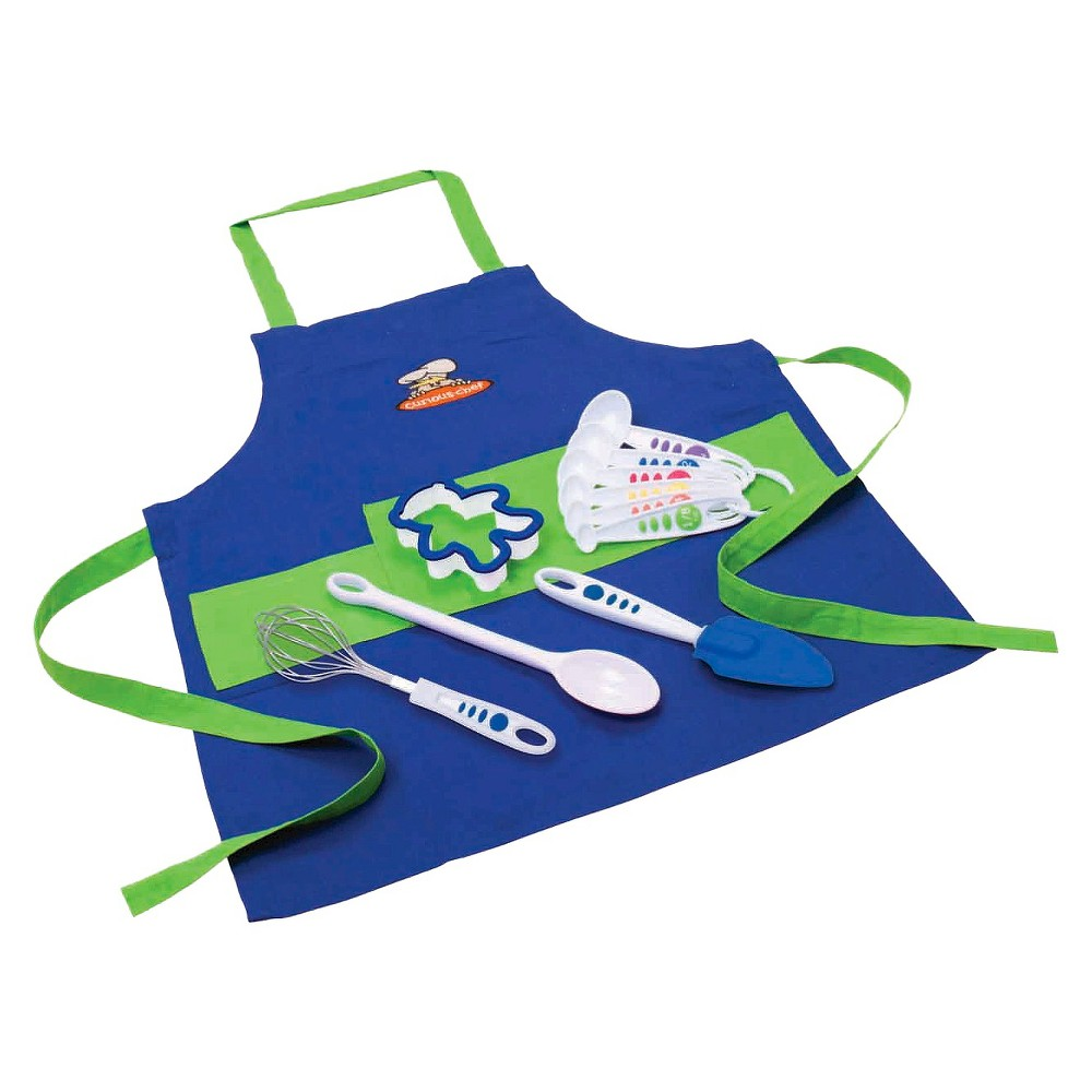Curious Chef 11pc Boy's Chef Kit, White/Green