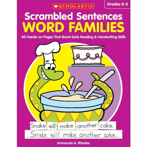 word families grades k 2 40 hands on pages that boost early
