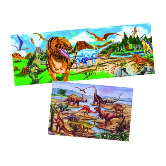 Buy Melissa Doug Dinosaur Floor Puzzle Set Set Of 2 For Usd 25 99 Toys R Us