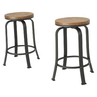 Skyla Rotating Counter Stool Natural (Set of 2) - Christopher Knight Home