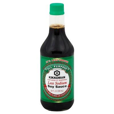 Kikkomon Less Sodium Soy Sauce 20oz