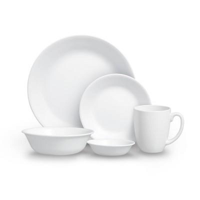 Corelle 20pc Vitrelle Livingware Dinnerware Set Frost White