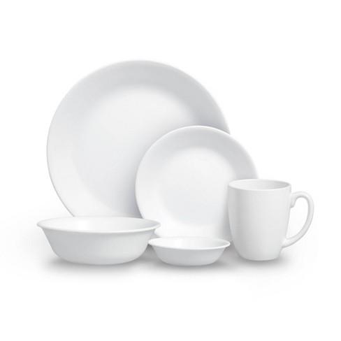 Corelle 20pc Vitrelle Livingware Dinnerware Set Frost White - image 1 of 4