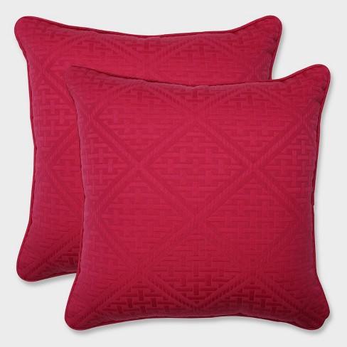 "18.5"" 2pk Paragon Raspberry Throw Pillows Pink - Pillow Perfect - image 1 of 4"