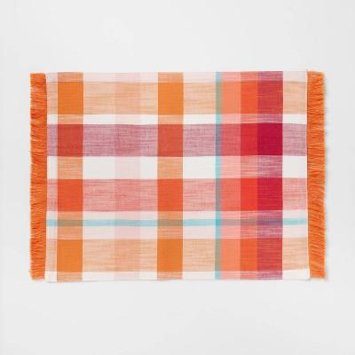 Cotton Plaid Placemat Orange - Opalhouse™