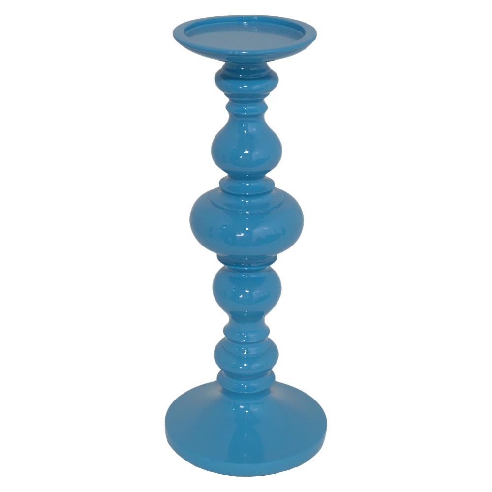 Resin Candle Holder Blue 14 - Three Hands