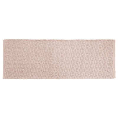 "mDesign Bathroom Cotton Rectangular Rug, Long Runner, 60"" x 21"""