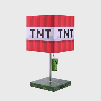 Minecraft TNT Table Lamp (Includes LED Light Bulb)