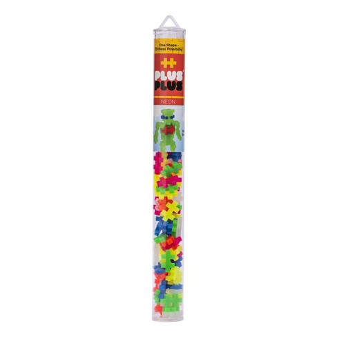 Plus-Plus 70 pc Tube - Neon Mix - image 1 of 4