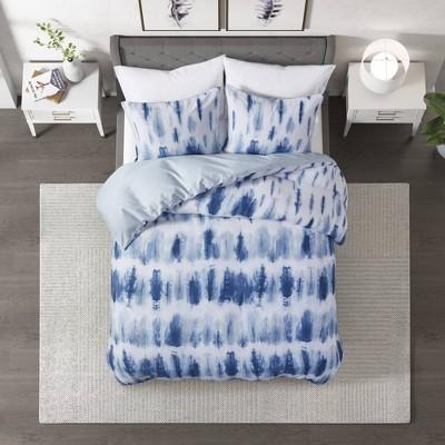 3pc Tie Dye Printed Comforter Set - CosmoLiving by Cosmopolitan