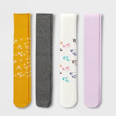Girls' 4pk Adaptive Knee-High Socks - Cat & Jack™