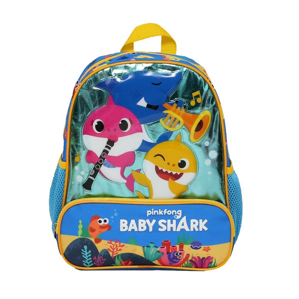 "Image of ""Baby Shark Sea Music Kids' 12"""" Backpack, Blue"""