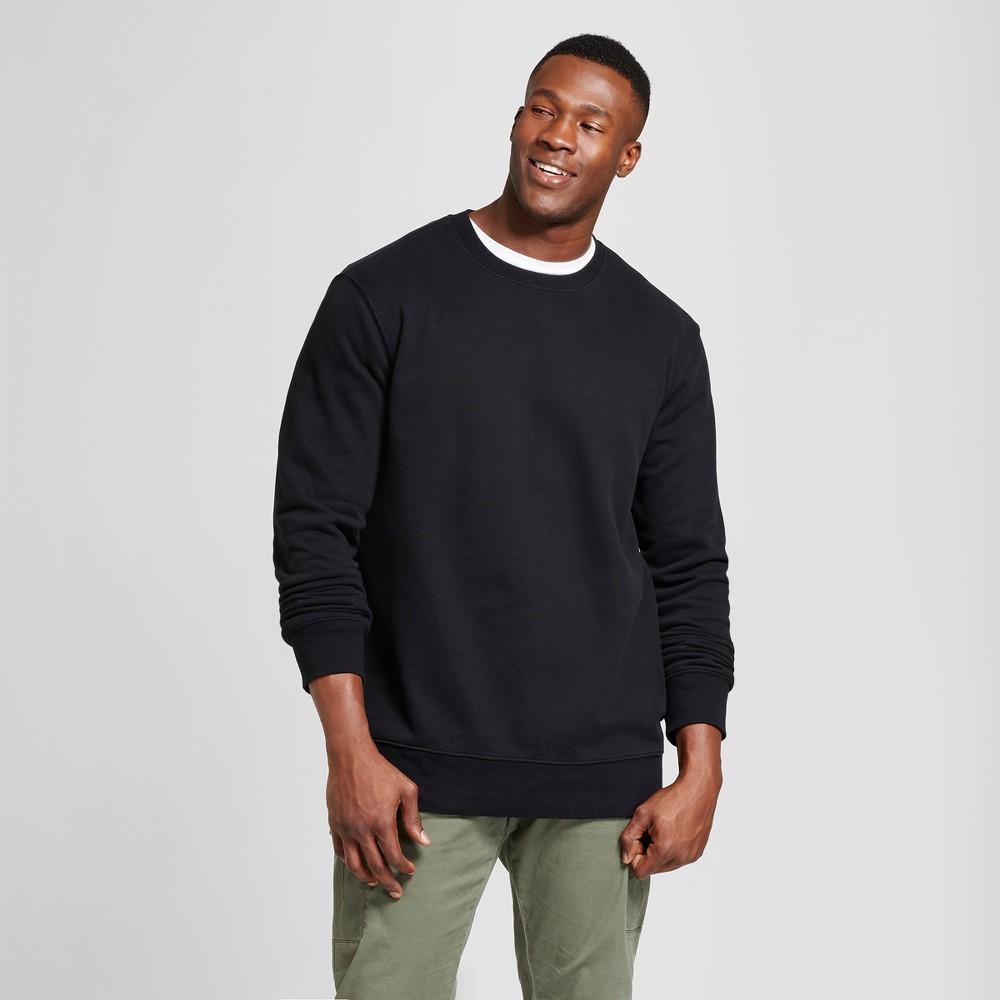 Men's Tall Fleece Crew Neck Sweatshirt - Goodfellow & Co Black LT