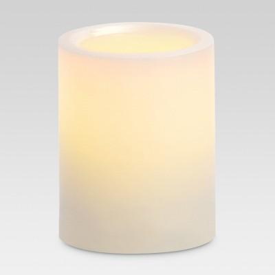3  x 4  LED Pillar Candle White - Threshold™