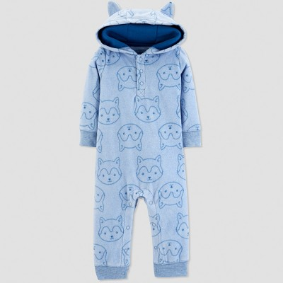 Baby Boys' Wolf Print Jumpsuit - Just One You® made by carter's Blue 3M