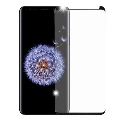 Valor Full Coverage Tempered Glass LCD Screen Protector Film Cover For Samsung Galaxy S9, Black