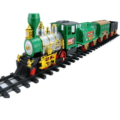 Northlight 20-Piece Battery Operated Lighted and Animated Classic Christmas Train Set with Sound