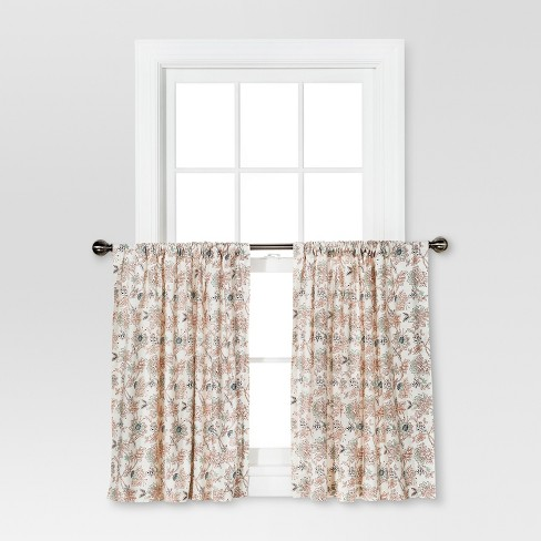 Curtain Tiers - Multi Floral - Threshold™ - image 1 of 1