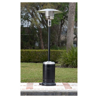 Fire Sense Hammer Tone Black U0026 Stainless Steel Commercial Patio Heater :  Target