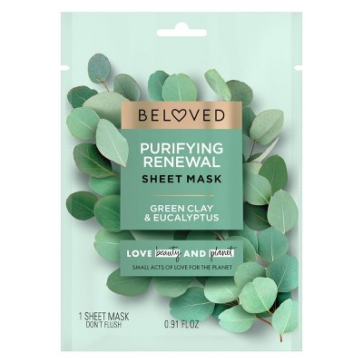 Beloved Green Clay & Eucalyptus Face Mask - 1ct