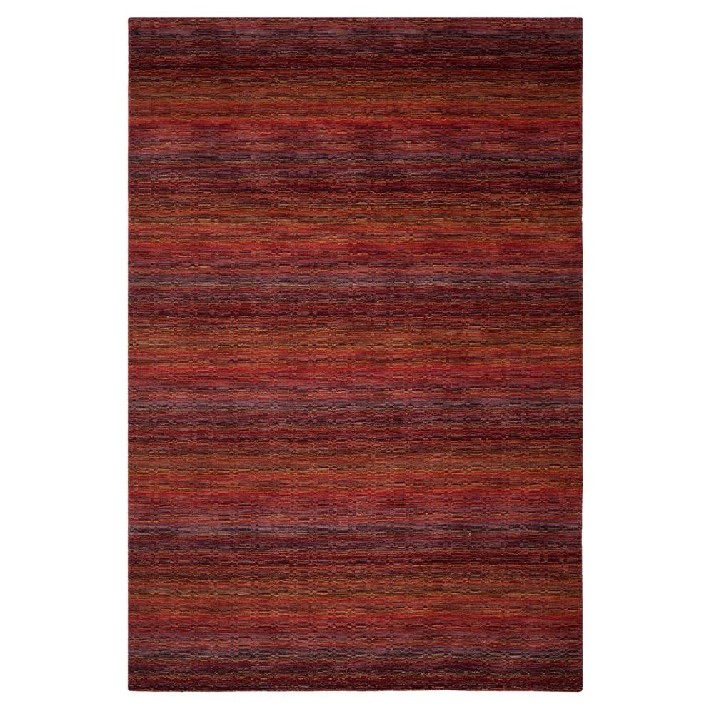 Red Stripe Loomed Area Rug 9'X12' - Safavieh