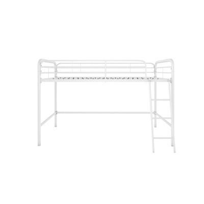 Adeline Junior Metal Loft Bed White - Room & Joy
