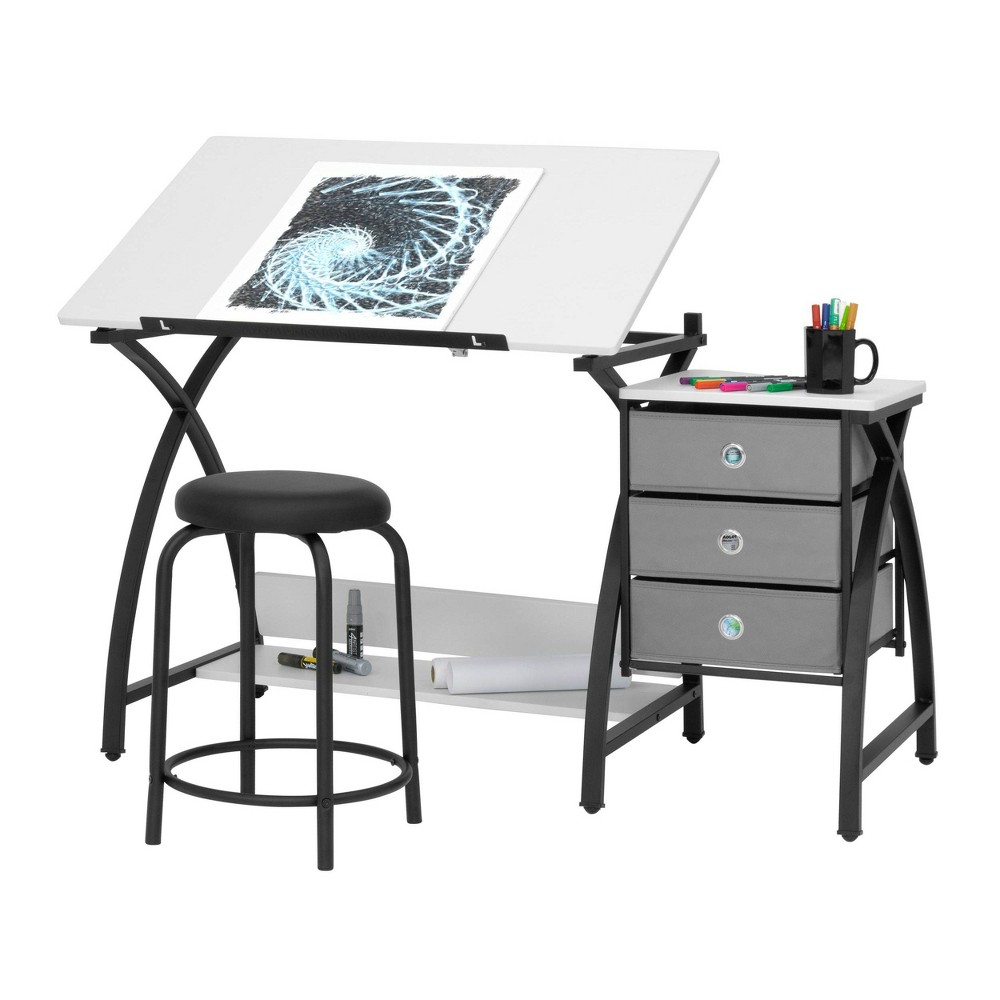 Image of 2pc Canvas & Color Adjustable Top Center Black/White - Studio Designs